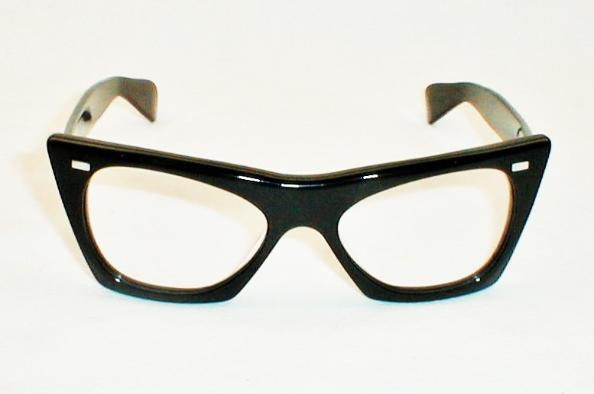 Vintage Black FAOSA Eyeglasses FAOSIA Frames, Buddy Holly, Roy Orbison, Esquivel, Rock Roll Eyeglass